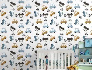 Bip Bip Παιδικά Ταπετσαρίες Τοίχου 100 x 100 εκ.