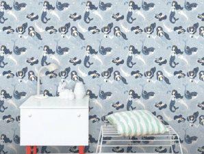 Γοργόνες Του Βυθού Παιδικά Ταπετσαρίες Τοίχου 100 x 100 cm