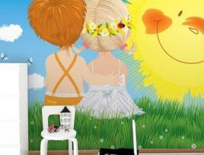 Παιδιά κάτω από τον ήλιο Παιδικά Ταπετσαρίες Τοίχου 80 x 120 cm