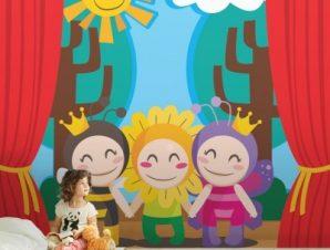 Θέατρο Παιδικά Ταπετσαρίες Τοίχου 100 x 100 εκ.