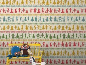 Χριστουγεννιάτικο Μοτίβο Παιδικά Ταπετσαρίες Τοίχου 100 x 100 cm