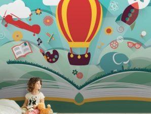 Μαγικό Βιβλίο Παιδικά Ταπετσαρίες Τοίχου 80 x 120 cm