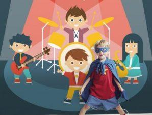 Μουσική συναυλία Παιδικά Ταπετσαρίες Τοίχου 100 x 100 cm