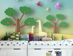 Φύση Παιδικά Ταπετσαρίες Τοίχου 86 x 130 cm