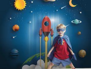 Μικρός Πύραυλος Παιδικά Ταπετσαρίες Τοίχου 100 x 100 cm