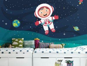 Μικρός Αστροναύτης Παιδικά Ταπετσαρίες Τοίχου 71 x 120 cm