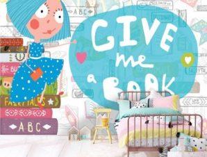 Δώσε Μου Ένα Βιβλίο Παιδικά Ταπετσαρίες Τοίχου 100 x 100 εκ.
