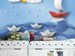Φουρτουνιασμένη Θάλασσα Παιδικά Ταπετσαρίες Τοίχου 81 x 130 cm