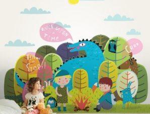 Πες Μου Μια Ιστορία Παιδικά Ταπετσαρίες Τοίχου 100 x 100 εκ.