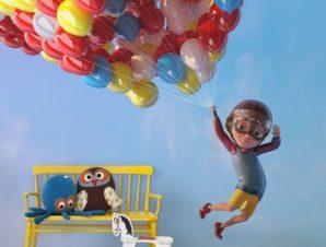 Πετάω Με Μπαλόνια Παιδικά Ταπετσαρίες Τοίχου 97 x 140 cm
