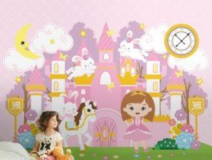 Παραμυθένιο Μέρος Παιδικά Ταπετσαρίες Τοίχου 100 x 100 εκ.