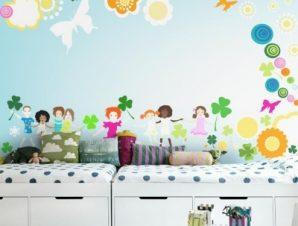 Τα παιδιά στο παιχνίδι Παιδικά Ταπετσαρίες Τοίχου 74 x 140 cm