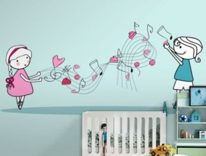 Παιδάκια μέσα στην μουσική Παιδικά Ταπετσαρίες Τοίχου 100 x 100 εκ.