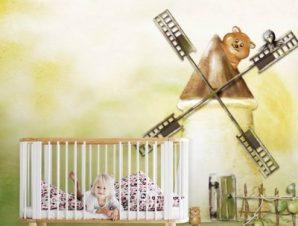 Ο μύλος Παιδικά Ταπετσαρίες Τοίχου 86 x 115 cm
