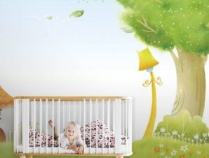 Σπίτι στο λιβάδι Παιδικά Ταπετσαρίες Τοίχου 100 x 100 εκ.