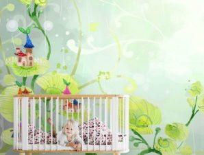 Παραμυθένιο σκηνικό με φυτά Παιδικά Ταπετσαρίες Τοίχου 80 x 115 cm