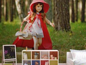 Η κοκκινοσκουφίτσα Παιδικά Ταπετσαρίες Τοίχου 81 x 120 cm