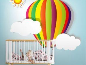 Αερόστατο Παιδικά Ταπετσαρίες Τοίχου 100 x 100 εκ.