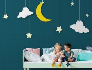 Ουρανός με φεγγάρι Παιδικά Ταπετσαρίες Τοίχου 100 x 100 εκ.