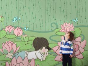 Μικρός φωτογράφος Παιδικά Ταπετσαρίες Τοίχου 100 x 100 εκ.
