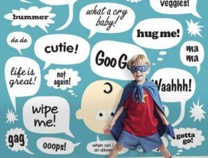 Φράσεις σε μπαλόνια κινουμένων σχεδίων Παιδικά Ταπετσαρίες Τοίχου 100 x 100 cm