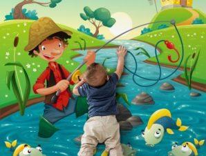 Πινόκιο Παιδικά Ταπετσαρίες Τοίχου 100 x 101 cm