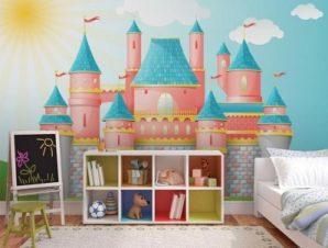 Παραμυθένιο κάστρο Παιδικά Ταπετσαρίες Τοίχου 100 x 100 εκ.
