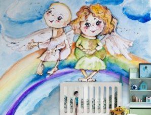 Αγγελούδια Παιδικά Ταπετσαρίες Τοίχου 100 x 100 εκ.