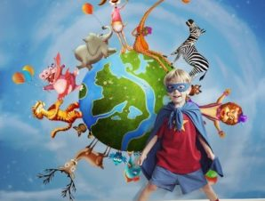 Ζώα του κόσμου Παιδικά Ταπετσαρίες Τοίχου 100 x 100 cm