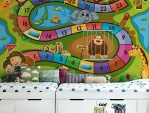Επιτραπέζιο παιχνίδι Παιδικά Ταπετσαρίες Τοίχου 85 x 120 cm