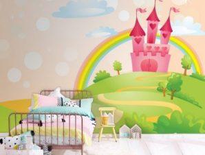 Κάστρο του παραμυθιού Παιδικά Ταπετσαρίες Τοίχου 100 x 100 εκ.