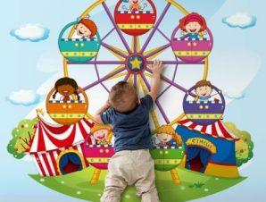 Τσίρκο Παιδικά Ταπετσαρίες Τοίχου 99 x 110 cm
