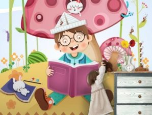 Ώρα για διάβασμα Παιδικά Ταπετσαρίες Τοίχου 100 x 100 εκ.