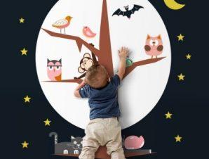 Καληνύχτα Παιδικά Ταπετσαρίες Τοίχου 100 x 100 cm