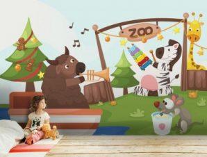 Ζωολογικός Κήπος Παιδικά Ταπετσαρίες Τοίχου 89 x 112 cm