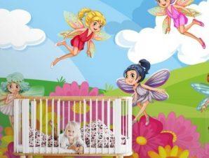 Νεράιδες Παιδικά Ταπετσαρίες Τοίχου 100 x 100 εκ.