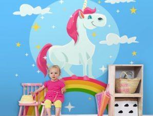 Λατρευτός Μονόκερος Παιδικά Ταπετσαρίες Τοίχου 100 x 100 εκ.