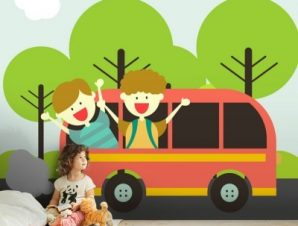 Ταξίδι Στη Φύση Παιδικά Ταπετσαρίες Τοίχου 100 x 100 cm