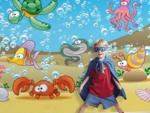 Ο βυθός της θάλασσας Παιδικά Ταπετσαρίες Τοίχου 89 x 115 cm