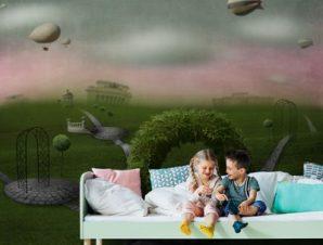 Παραμυθένιος κόσμος Παιδικά Ταπετσαρίες Τοίχου 100 x 100 εκ.