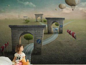 Παραμυθένια διαδρομή Παιδικά Ταπετσαρίες Τοίχου 94 x 110 cm