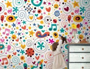 Καρτούν Παιδικά Ταπετσαρίες Τοίχου 100 x 100 εκ.