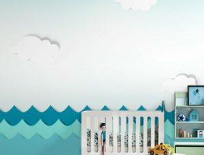 Θάλασσα Παιδικά Ταπετσαρίες Τοίχου 100 x 100 εκ.