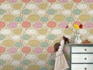 Φθινοπωρινά σύννεφα Παιδικά Ταπετσαρίες Τοίχου 100 x 100 εκ.