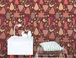 Ρομαντικό μοτίβο Παιδικά Ταπετσαρίες Τοίχου 100 x 100 cm