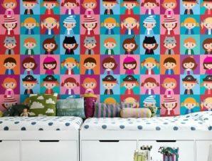 Παιδικό μοτίβο Παιδικά Ταπετσαρίες Τοίχου 100 x 100 εκ.