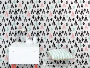 Ινδικό μοτίβο Παιδικά Ταπετσαρίες Τοίχου 100 x 100 cm