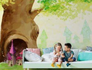 Δέντρο Παιδικά Ταπετσαρίες Τοίχου 86 x 115 cm