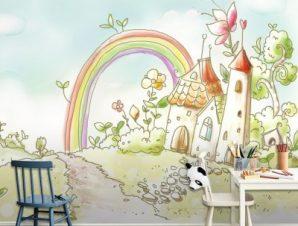 Το χωριό των νεράιδων Παιδικά Ταπετσαρίες Τοίχου 100 x 100 εκ.