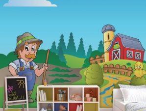 Αγρότης Παιδικά Ταπετσαρίες Τοίχου 94 x 115 cm